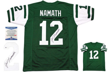 Joe Namath Autographed Jersey - green