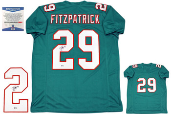 Minkah Fitzpatrick Autographed Signed Jersey  - teal