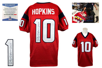DeAndre Hopkins Autographed Signed Jersey - red