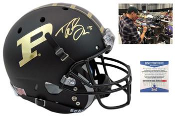 Drew Brees Autographed SIGNED Purdue Boilermakers Helmet
