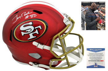 Jerry Rice Autographed SIGNED San Francisco 49ers BLAZE Helmet