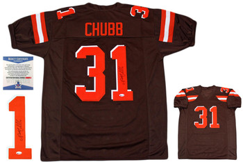 Nick Chubb Autographed Signed Jersey - Brown