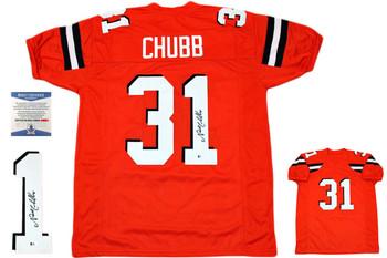 Nick Chubb Autographed Signed Jersey - Orange