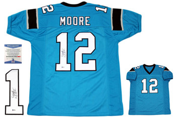 Dj Moore Autographed Signed Jersey - Blue