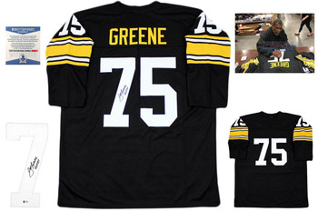 Joe Greene Autographed Signed Jersey - Black - Long Sleeve