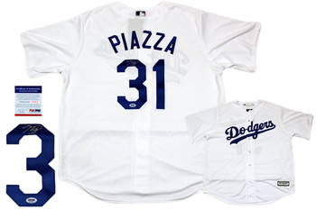 Mike Piazza Autographed Signed Los Angeles Dodgers Majestic Jersey - PSA DNA Authentic