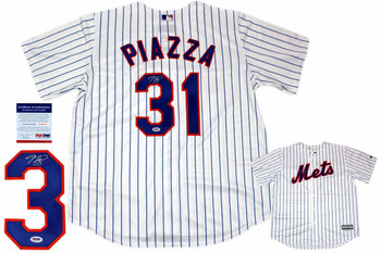 Mike Piazza Autographed Signed New York Mets Majestic Jersey - PSA DNA Authentic