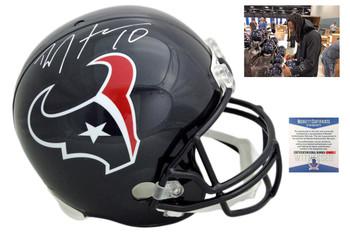 Deandre Hopkins Autographed SIGNED Houston Texans Helmet