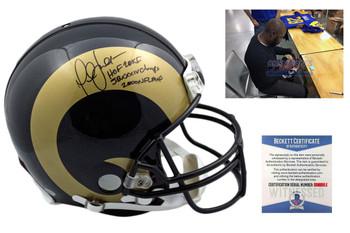 Marshall Faulk Autographed St. Louis Rams Authentic Pro Line Helmet