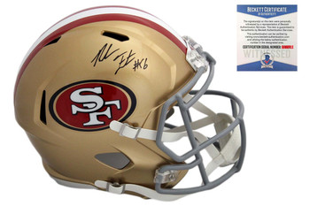 Reuben Foster Autographed Signed San Francisco 49ers Speed Rep Helmet