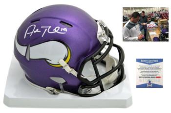 Adam Thielen Autographed SIGNED Minnesota Vikings Speed Mini Helmet