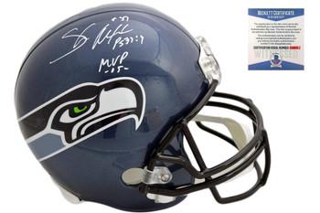 Shaun Alexander Autographed Seattle Seahawks Full Size Replica Helmet - Beckett