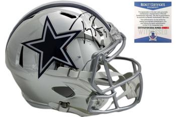 Tony Romo Autographed Cowboys Speed Chrome Helmet - Beckett