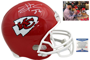 Travis Kelce Autographed Signed Kansas City Chiefs Full Size Helmet - Beckett