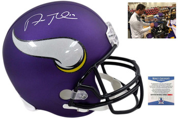 Adam Thielen Autographed Signed Minnesota Vikings Full Size Helmet - Beckett