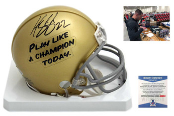 Harrison Smith Autographed SIGNED Notre Dame Fighting Irish Mini Helmet - Beckett