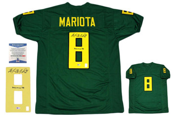 Marcus Mariota Autographed Signed Jersey - Green - Beckett Authentic