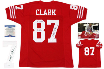 Dwight Clark Autographed Signed Jersey - The Catch - Beckett