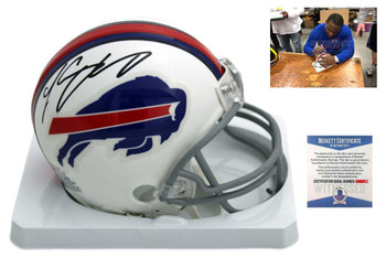 LeSean McCoy Autographed SIGNED Buffalo Bills Mini Helmet - Beckett