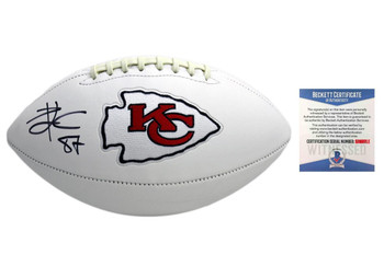 ravis Kelce Autographed Signed Kansas City Chiefs Football - Beckett Authentic