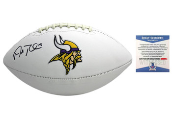Adam Thielen Autographed Signed Minnesota Vikings Football - Beckett Authentic
