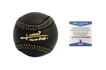 Juan Soto Autographed Black Baseball - Beckett Authentic