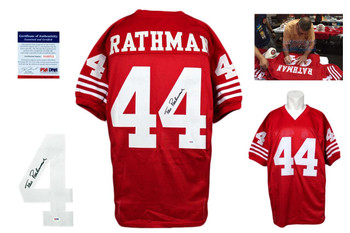 Tom Rathman Autographed Signed Jersey - Red - PSA DNA