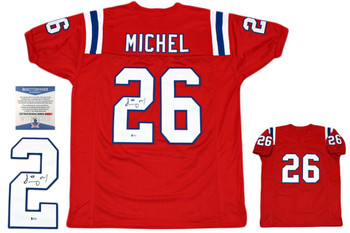 Sony Michel Autographed Signed Jersey - Red - Beckett