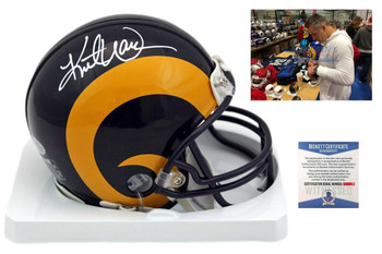 Kurt Warner Autographed Signed St. Louis Rams Mini Helmet - TB - Beckett