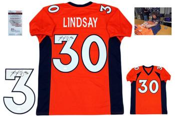 Phillip Lindsay Autographed Signed Jersey - Orange