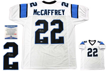 Christian McCaffrey Autographed Signed Jersey - White - Beckett Authentic