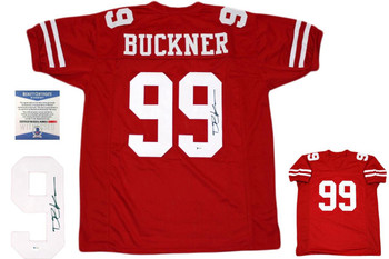 DeForest Buckner Autographed Signed Jersey - Red - Beckett Authentic