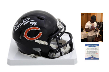 Roquan Smith Autographed Signed Chicago Bears Speed Mini Helmet - Beckett