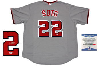 Juan Soto Autographed Washington Nationals Majestic Jersey