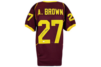 Antonio Brown Autographed Jersey - Burgundy - JSA Authentic