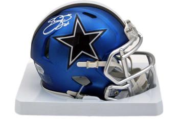 Dallas Cowboys Emmitt Smith Autographed Blaze Mini Helmet - Beckett