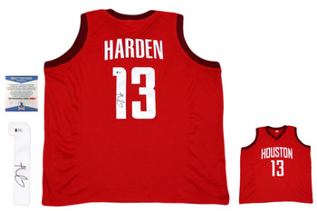 James Harden Autographed Signed Jersey - Red