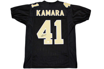 Alvin Kamara Autographed Signed Jersey - Beckett Authentic - Black