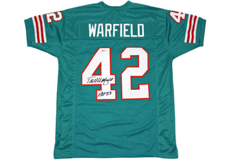 Paul Warfield Autographed Jersey - Beckett Authentic - Teal