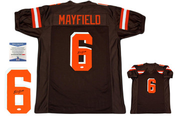 Baker Mayfield Autographed Signed Jersey - Brown