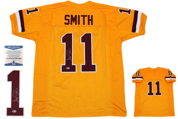 Alex Smith Autographed Signed Jersey - Gold