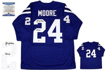 Lenny Moore Autographed Signed Jersey - Blue