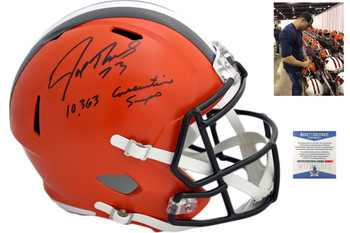 Cleveland Browns Joe Thomas Autographed Speed Helmet