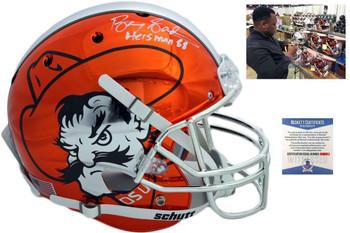 Oklahoma State Cowboys Barry Sanders Autographed Chrome Helmet