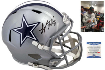 Dallas Cowboys Leighton Vander Esch Autographed Speed Helmet