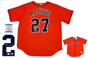 Houston Astros Majestic Jose Altuve Autographed Jersey - ORG