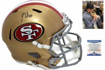 San Francisco 49ers George Kittle Autographed Speed Helmet
