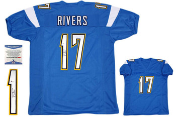 Philip Rivers Autographed Jersey - Beckett Authentic - Powder Blue
