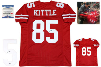 George Kittle Autographed Jersey - Beckett Authentic - Red