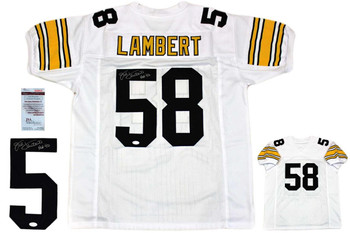 Jack Lambert Autographed Signed Jersey - White - JSA Witnessed